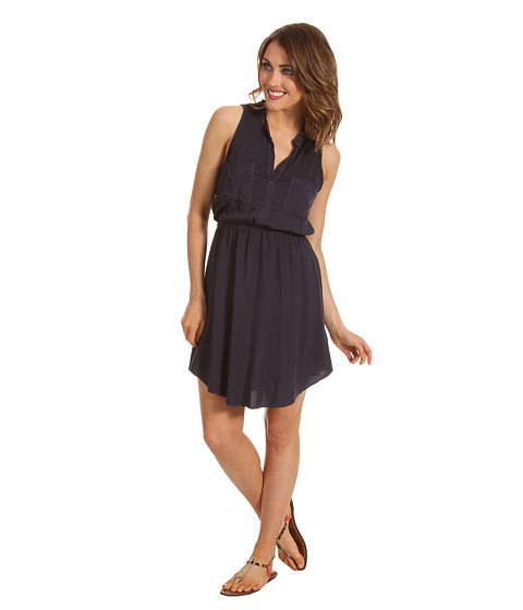 Splendid - Shirt Tank Dress (Navy) - Apparel