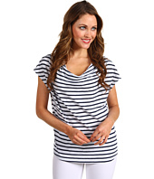 Splendid - Miami Stripe S/S Cowl Neck Top