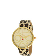 Betsey Johnson - BJ00068-05 Analog Leopard Patent Printed Leather Strap Watch