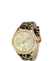 Betsey Johnson - BJ00131-10 Analog Metallic Leopard Printed Strap Watch