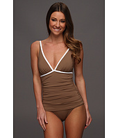 Tommy Bahama - Deck Piping Shirred V-Neck OTS Cup One Piece