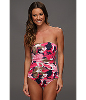 Tommy Bahama - Meridian Shirred Bandeau Cup One Piece