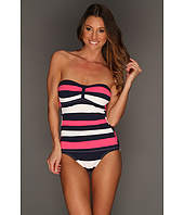 Tommy Bahama - Regatta Bold Stripe Shirred Bandeau Cup One Piece