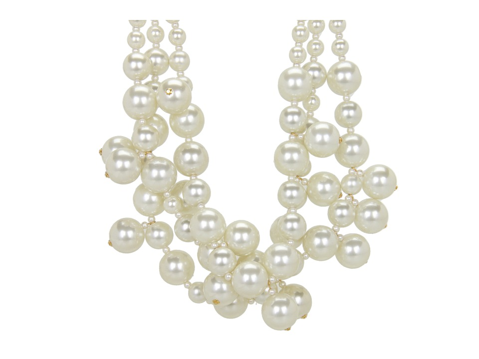 Kenneth Jay Lane 5079NLC (Gold/Pearl) Necklace