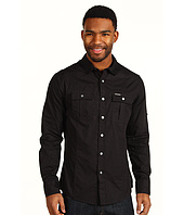 Marc Ecko Cut & Sew - Solid Poplin Military Long Sleeve Shirt