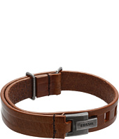 Fossil - Casual Vintage Hook Lock Leather Bracelet