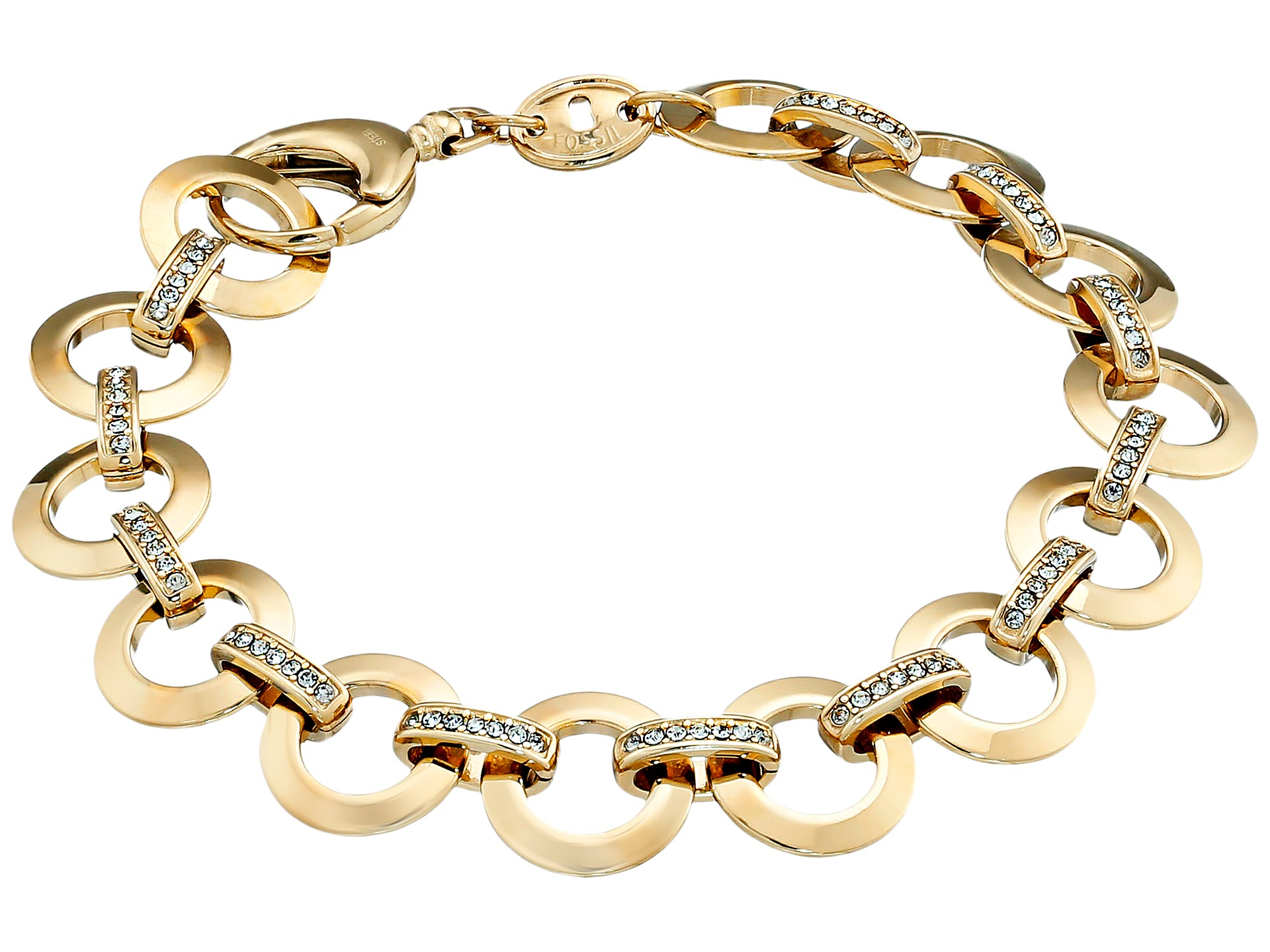 fossil glitz charm starter bracelet zappos free