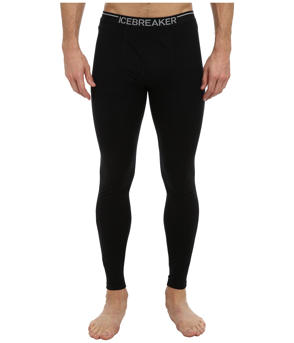 Icebreaker Oasis Leggings with Fly (Black) Men