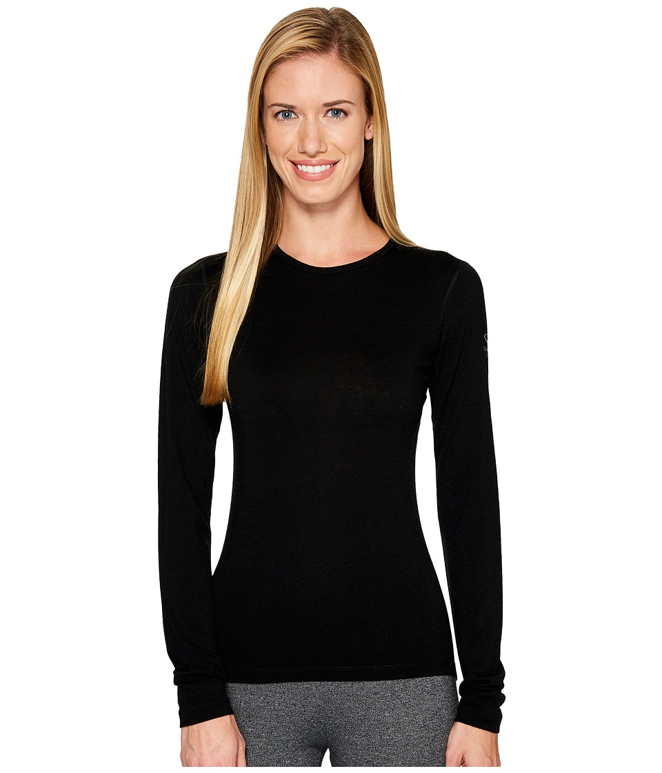 Icebreaker Oasis Long Sleeve Crewe (Black) Women