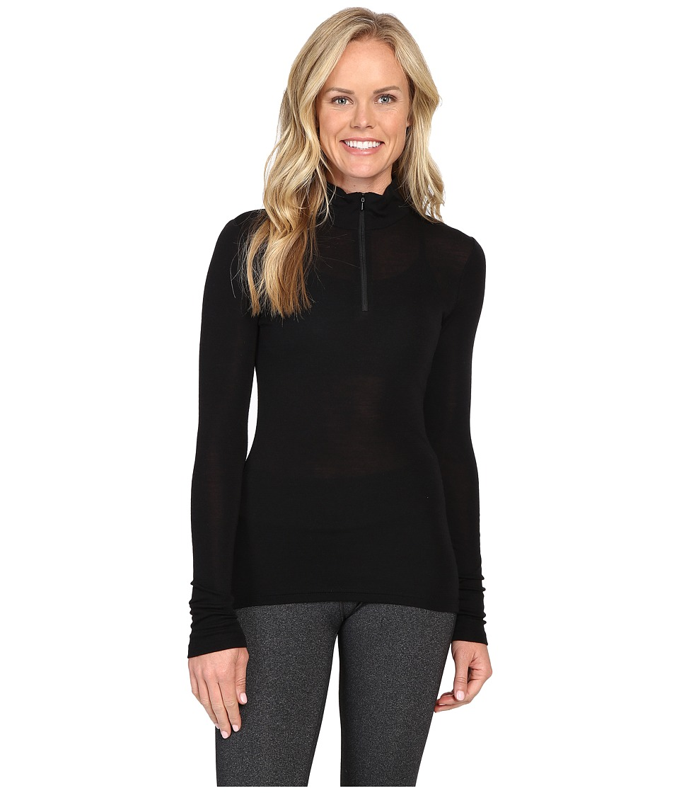Icebreaker Everyday Long Sleeve Zip (Black) Women