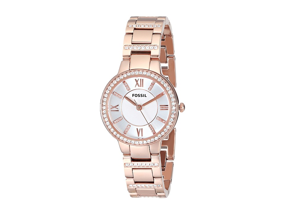 Fossil - ES3284 Virginia Three Hand Stainless Steel Watch (Rosegold) Analog Watches