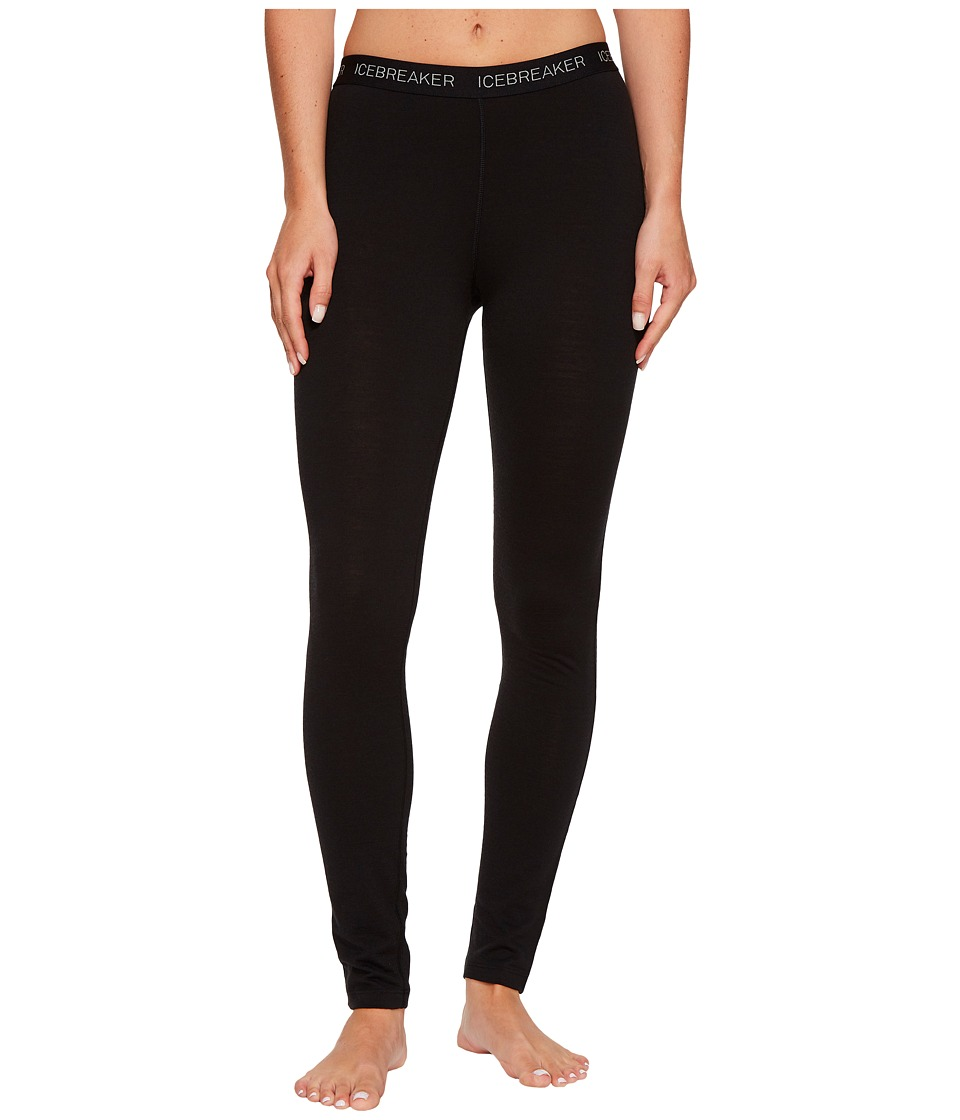 Icebreaker Oasis Mid-Weight Merino Legging (Black) Women