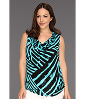 Karen Kane Plus - Plus Size Drape Neck Sleeveless Top