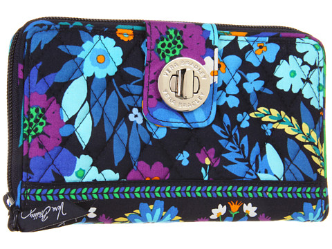 Vera Bradley Turn Lock Wallet Midnight Blues