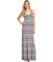 Alternative Apparel - Printed Croquet Racerback Maxi Dress