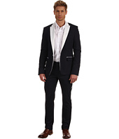 Pierre Balmain - One Button Suit with Contrasting Fabric