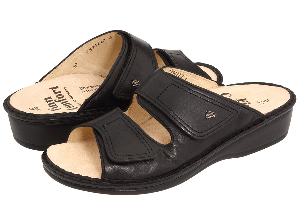 Finn Comfort Jamaica 82519 Black Nappa Soft Footbed Womens Slide Shoes