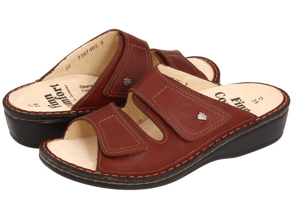 Finn Comfort Jamaica 82519 Brandy Country Soft Footbed Womens Slide Shoes