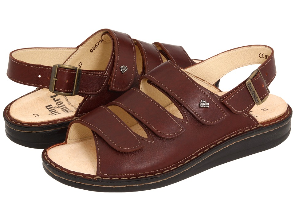 Finn Comfort Sylt - 82509 (Brandy Country Soft Footbed) W...