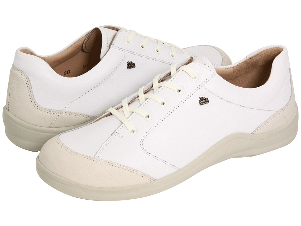 Finn Comfort Cusco 82736 White Leather Womens Lace up casual Shoes