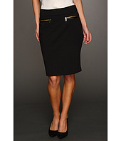 Calvin Klein - Ponte Pull On Skirt w/Zipper
