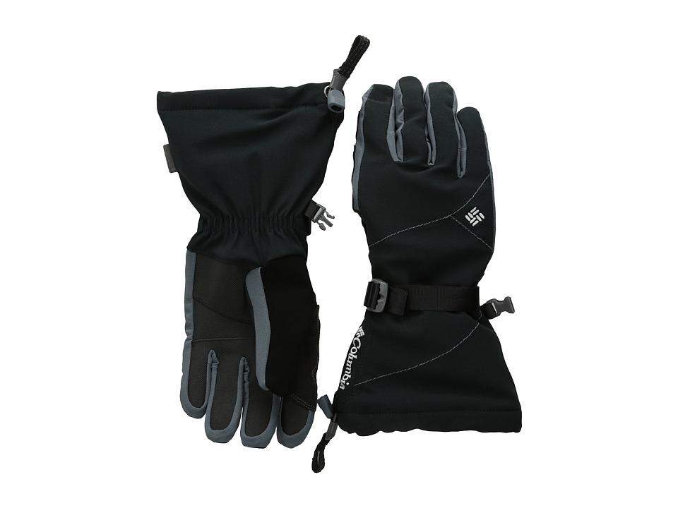 Columbia Retta Ridge Glove (Black/Graphite) Extreme Cold Weather Gloves