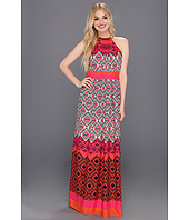 Eliza J - Halter Maxi With Inset Waist And Necklace Trim