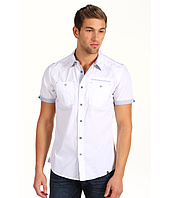Marc Ecko Cut & Sew - Poplin Shirt w/ Stripe Trim