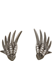 Elizabeth and James - Meadowlark Wing Earrings with White Sapphire