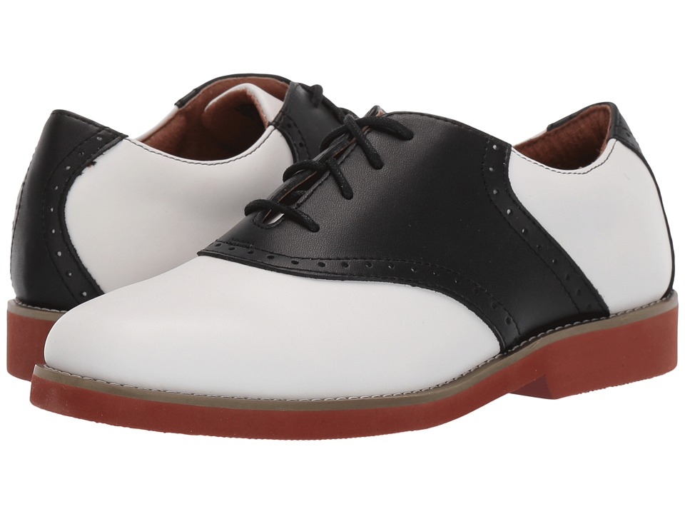 School Issue - Upper Class (Adult) (White/Black Leather) Girls Shoes