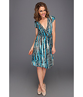 BCBGMAXAZRIA - Cap Sleeve MJ Wrap Dress
