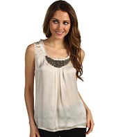 Jones New York - Beaded Pleated Tank Knit Top