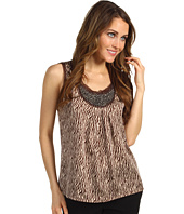 Jones New York - Beaded Pleated Tank Top