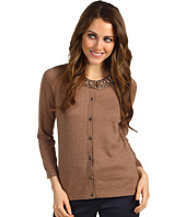 Jones New York - Three-Quarter Sleeve Beaded Cardigan