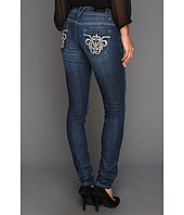 VIGOSS - Skinny Embroidered Pocket Jeans in Medium Wash