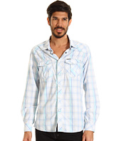 Marc Ecko Cut & Sew - White Ground Plaid L/S Shirt