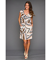 Jessica Simpson - Drape Front Stripe Dress