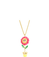 Betsey Johnson - Garden Party Flower Pot Pendant Necklace