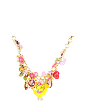 Betsey Johnson - Garden Party Chickadee Flower Necklace