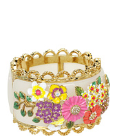 Betsey Johnson - Garden Party Multi Flower Hinge Bracelet