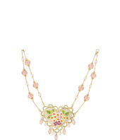 Betsey Johnson - Garden Party Flower Heart Cherry Pendant Necklace