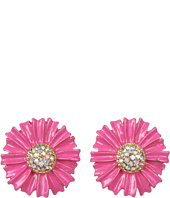 Betsey Johnson - Garden Party Pink Flower Stud Earrings
