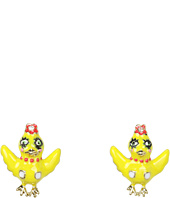 Betsey Johnson - Garden Party Yellow Chickadee Stud Earrings