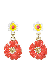 Betsey Johnson - Garden Party Flower Drop Earrings