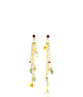 Betsey Johnson - Garden Party Flower Chain Non-Matching Earrings