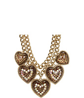 Betsey Johnson - Leopard Heart Frontal Necklace