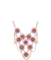 Betsey Johnson - Leopard Flower Bib Frontal Necklace