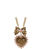 Betsey Johnson - Leopard Heart Pendant Necklace