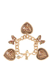 Betsey Johnson - Leopard Heart Charm Toggle Bracelet