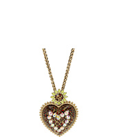 Betsey Johnson - Leopard Heart Long Pendant Necklace